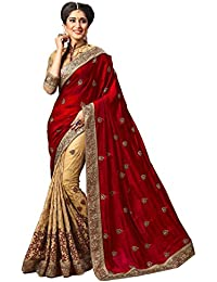 Nivah Fashion Women's Silk Embroidery Work Saree With Blouse Piece M724