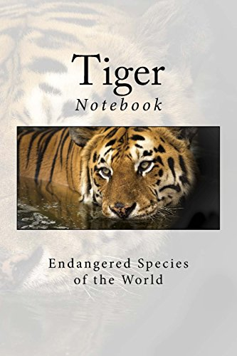 """Tiger: Notebook, 150 Lined Pages, Softcover, 6"""" x 9"""""""