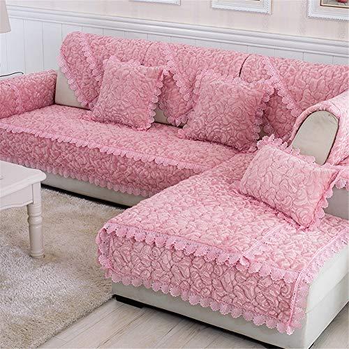 HKDD Vier Jahreszeiten Rutschfest Sofabezug Plüsch Quilten Couch-Abdeckungen Antifouling für Schnittmöbelschutz von Pets Dogs Kids-Coffee 1-teiliges Set (Couch Pet-abdeckung)