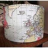 World Map Lampshade