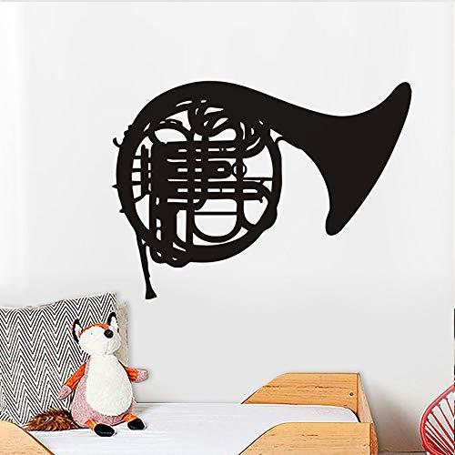 Posaune Musikinstrument Wandaufkleber Für Kinderzimmer Mädchen Jungen Zimmer DIY Dekoration Wandtattoos Poster80 * 58 cm
