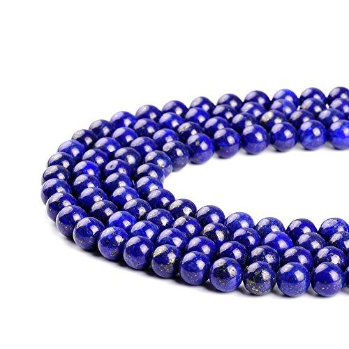 AAA natürlicher tiefblauer Lapislazuli-Edelstein rund lose Perlen 2 mm 3 mm 4 mm 6 mm 8 mm 10 mm 12 mm, blau, 4 mm