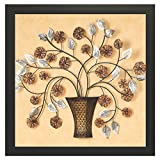 #7: Printelligent Framed Floral Paintings for Living room and Bedroom. 12 in x 12 in Wooden