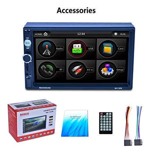 """Lecteur Voiture, 7"""" HD 1080P LCD écran Tactile 800 * 480 MP5 Voiture Bluetooth 7 Couleur Bouton Back Light Miroir Lien FM/AM / RDS Tuner émetteur"""