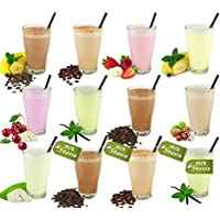 Molkepulver Probierset 12 Sorten - Vital-Molke-Drink - Molkekur - Abnehmen mit Trinkmolke