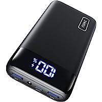 INIU Powerbank, 20W PD3.0 QC4.0 Schnelles Aufladen 20000mAh LED Display Externer Akku, Tri-Outputs USB C Power bank…