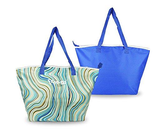 Freego borsa termica 375839 fantasia onde doppio manico blu. media wave store ®