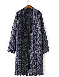 New Ladies Loose de grosor Knit Cardigan Sweater Coat