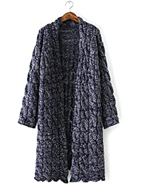 New Ladies Loose de grosor Knit Cardigan Sweater Coat