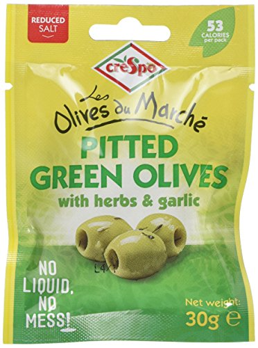 crespo-pitted-green-olives-with-herbs-and-garlic-30-g-pack-of-10