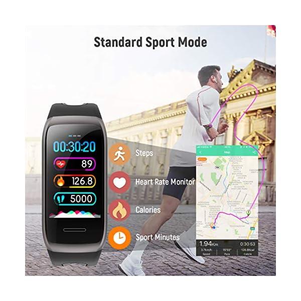 TagoBee TB14 Pulsera Actividad Fitness Trackers IP68 Waterproof Smart Band 1.14'' LCD Color Screen Sport Smart Brazalete… 3