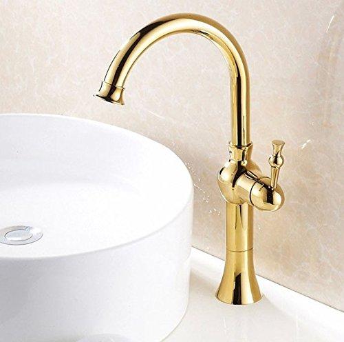 Mode-griff (Tourmeler Neues Design gold Finish einzigen Griff Mode bad Waschbecken Mischbatterie Wasserhahn Messing Armaturen)
