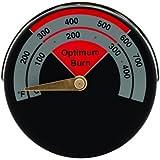 Kabalo Magnetisches Temperaturanzeigethermometer für Ofenrohrablaufrohr