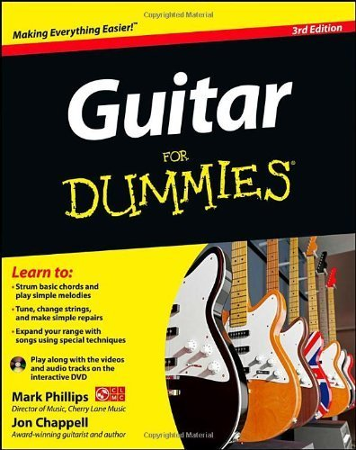 Guitar For Dummies, with DVD by Phillips, Mark, Chappell, Jon (2012) Paperback