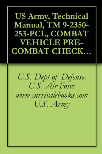 US Army, Technical Manual, TM 9-2350-253-PCL, COMBAT VEHICLE PRE-COMBAT CHECKLIST FOR TANK COMBAT, FULL TRACK 105 MM GUN & TANK THERMAL SIGHT M60A3, (NSN ... military manuals on cd, (English Edition)