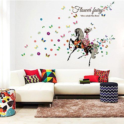 JYSPORT Kindergarten Umwelt wirbelnden Schmetterlinge Baum Wall Art Aufkleber Aufkleber für Heim-Raum-Dekor Wanddekoration (SK9005)