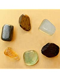 Reiki Crystal Products Wealth Crystal Tumble Stone Kit for Reiki Healing Gemstone Vastu - Feng Shui