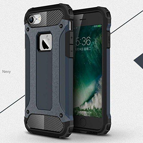"""iPhone 7 Plus Coque, AOFad Case Anti - poussière Protection des lourds 2-à-1 gris TPU Avec 10 Colors Diamond Accessoires Série Pour Femme Homme 5.5"""" I089 AOFad B328"""