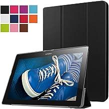 Lenovo Tab 2 A10-30F Funda, Vikoo Ultra Slim Ligera Smart-cáscara Cuero Case para Tableta TLenovo Tab 2 A10-30F Tablet PU Leather Cover Case - Negro