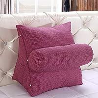 HALOVIE Cuscino con zeppa lombare e schienale flessibile per divano, letto e sedia da ufficio Rosa-Viola