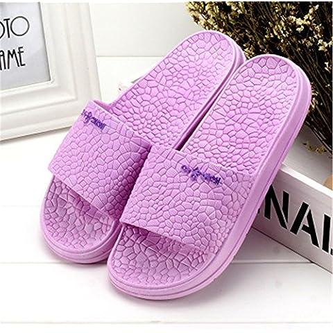 Bagno pantofole giovane Home Slip-Women e uomini Thick-Soled ciabatte da