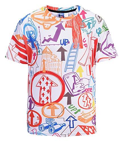 Pizoff Unisex Übergroßes 3D Druck T-Shirt - Kurzarm für 2018 Sommer Pfeil Y1824-21-M (3d Pfeil)