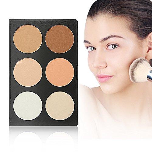 LuckyFine 6 farben Gesicht Puder Concealer make up palette Abdeckcreme Tarnung-Verfassungs-Palette