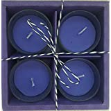 Rustic Rituals, Votive Candles Set Lavender Scented Glass Candle Holder Long Lasting Burn Time 5 Hours - Set Of 4| Diwali Gift| Christmas| Wedding| Gift Box