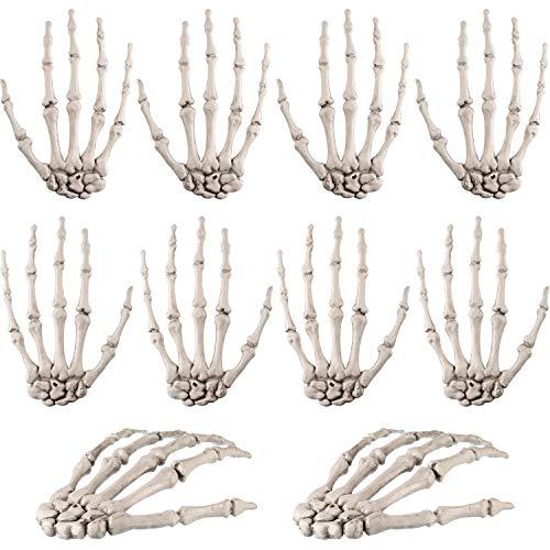 Fenster Geheime Das Kostüm - 10 Stücke Halloween Skeleton Hände Kunststoff Menschliche Hand Knochen Zombie Party Terror Scary Requisiten