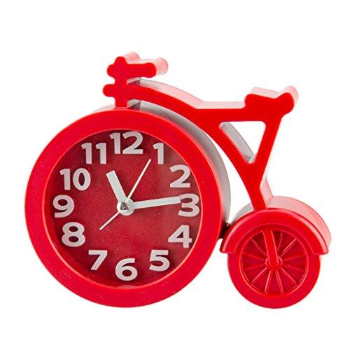 BouT Réveil pour Chambre à Coucher, créatif, réveil de vélo pour Enfants, alimenté par Piles, réveil de Lever du Soleil pour dormeurs, réveil de réveil, décoration de Bureau