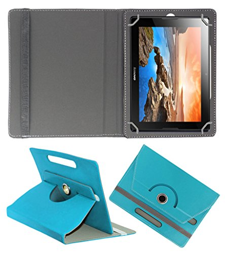 ACM ROTATING 360° LEATHER FLIP CASE FOR LENOVO IDEATAB A10-70 A7600 TABLET STAND COVER HOLDER GREENISH BLUE  available at amazon for Rs.189