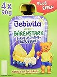 Bebivita Birne-Banane-Blaubeere, 4er Pack (4 x 360 g)
