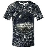 QIANZHIHE Camiseta Camiseta para Hombre Camiseta para Animales Camiseta Informal 3D Impresión de Camiseta Abstracta Impresión de Ropa para Hombres, XL