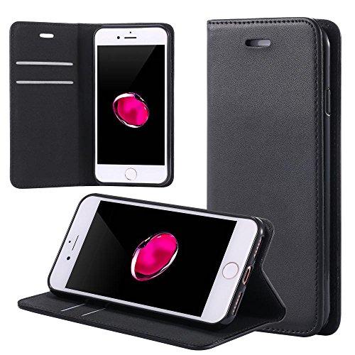 ECENCE APPLE IPHONE 7 HOUSSE WALLET PORTEFEUILLE CASE COVER POCHETTE ETUI 23020407 Noir