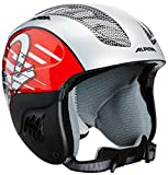 ALPINA Kinder Skihelm Carat, Silver-Red, 54-58, 9035320
