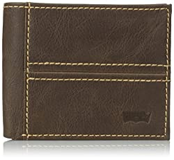 Levis Mens Philip Traveler Wallet, Brown, One Size