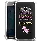 Samsung Galaxy Xcover 3 Hülle Silikon Case Schutz Cover Einhorn Unicorn Lustig Sprüche