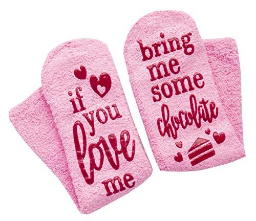 Haute Soirée Lavley Damen Socken mit rutschfestem Griff und Geschenkbox, Pink