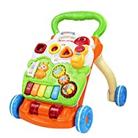 Foxom 3-in-1 Baby Activity Walker - First Steps Baby Walker with Lights Sounds - Adjustment Speed Baby Walker Car Learning Toys for Boys and Girls