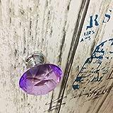 Lvcky 10pcs Violet 40mm Rond Plat en Verre Cristal Cabinet Boutons de Porte Placard tiroir Meuble Meuble de Cuisine Armoire Commode Coupe Diamant Poignée de Traction