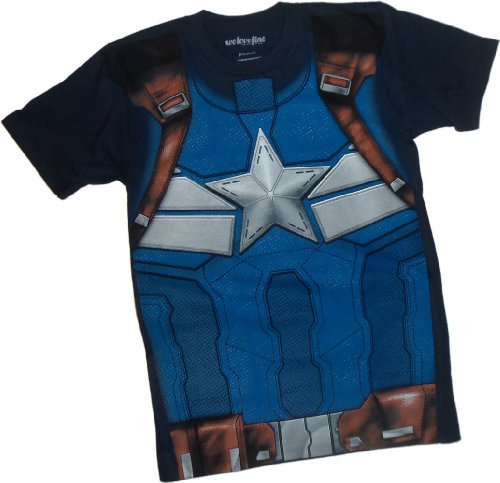 Chris Evans Kostüm America Captain - Kostüm -- Captain America: The Winter Soldier Film T-Shirt, XXL