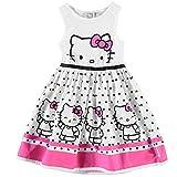 Character Kinder Maedchen Kleid Aermellos Rundhals Freizeit Sommer Baumwolle Hello Kitty 3-4 Yrs