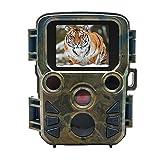 Top-vigor extérieur Mini Trail Camera, MP 1080p Wildlife Jeu de chasse Caméra vidéo tracker, IP66étanche Vision de nuit Cam 60ºpir Sensor caméscope avec écran LCD 5,1cm pour la chasse et la sécurité à domicile