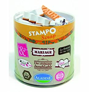 Aladine - 03702 - Tampons À Imprimer - Stampo Scrap - Mariage