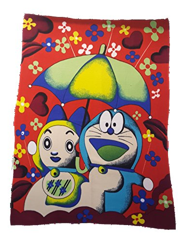 BRANDONN SOFT TOUCH RED DORAEMON PRINTED POLAR FLEECE BABY BLANKET CUM BABY BEDSHEET(40 INCH X 60 INCH APPROX; RED)  available at amazon for Rs.199