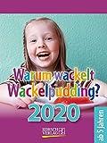 Warum wackelt Wackelpudding? 2020: Aufstellbarer Tages-Abreisskalender für Kinder zum rätseln I 12 x 16 cm