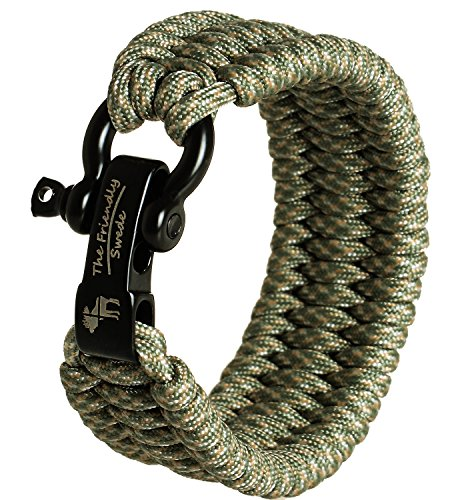 The Friendly Swede Einstellbares Trilobit Paracord Survival Überlebens-Armband