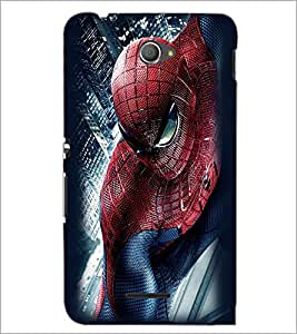 PrintDhaba Spiderman D-2297 Back Case Cover for SONY XPERIA E4 (Multi-Coloured)