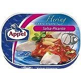 Appel Heringsfilets, zarte Fisch-Filets Salsa-Picante, MSC zertifiziert, 10er Pack (10 x 200 g)