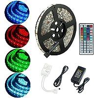 ALED LIGHT® Wasserdicht IP65 LED Strip,LED Streifen, LED Band, 5M 5050 300 LED SMD (60 LED/Meter) RGB + 44 Key Fernbedienung+Netzteil 12V 6A + Empfänger + Produktbeschreibung